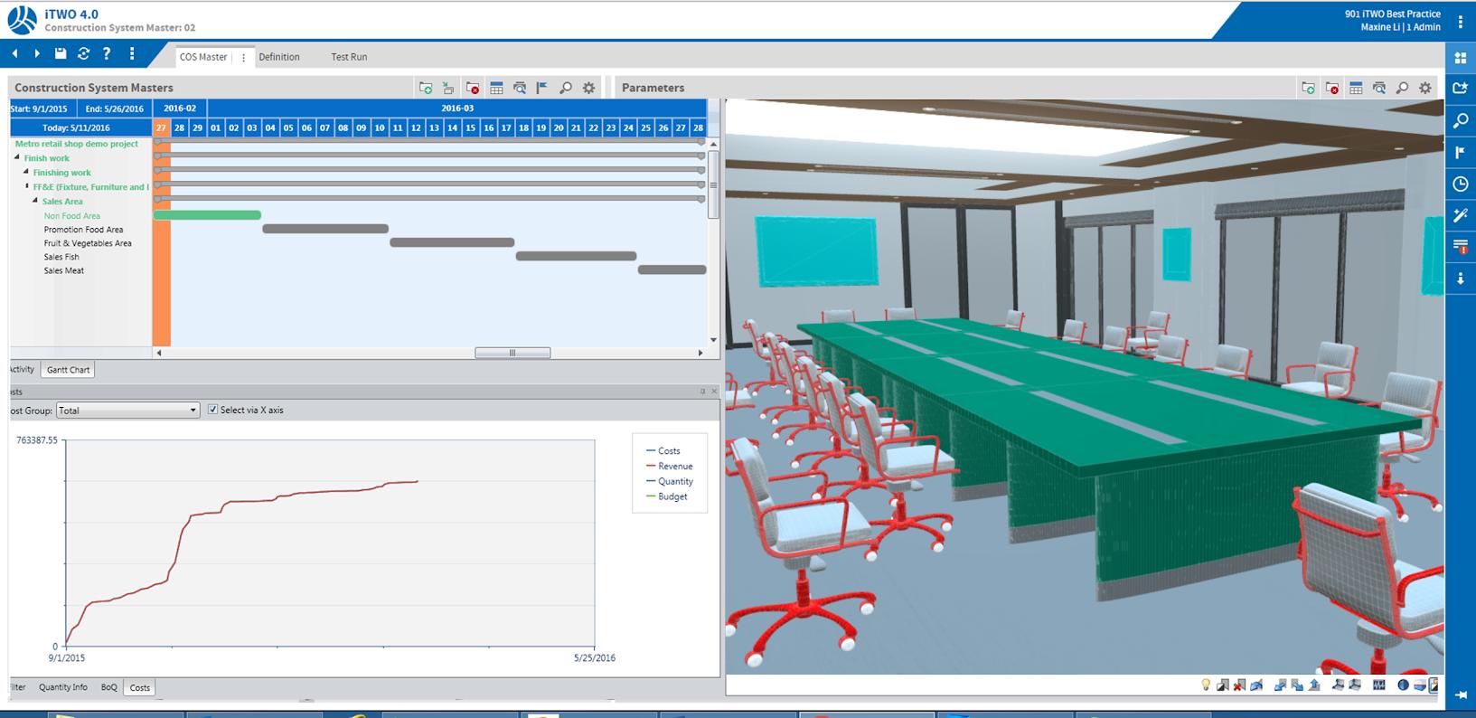 В 5D-решении инструменты проектирования Autodesk Revit будут объединены с информацией из план-графиков и смет.