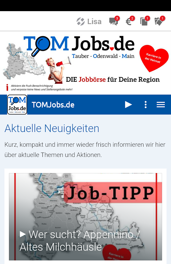 TOMJobs.de- screenshot