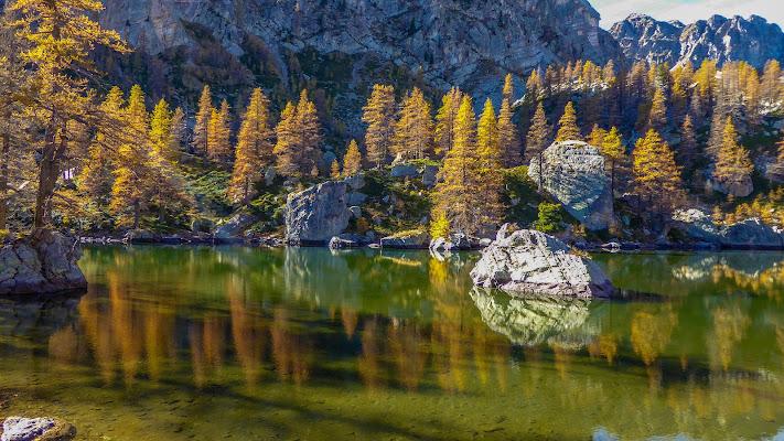 Sul lago verde di mario chiaiese foto