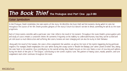 Color Symbolism and The Book Thief - analysis of what a text says ...