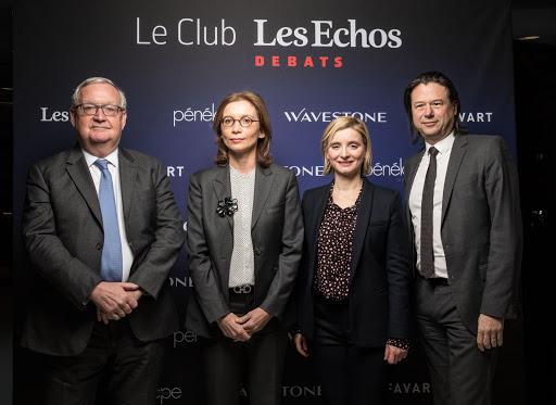 Club Les Echos Débats avec Patrick Artus et Mathilde Lemoine (Wavestone)