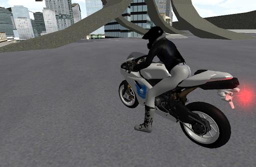 Motorbike Police Driver