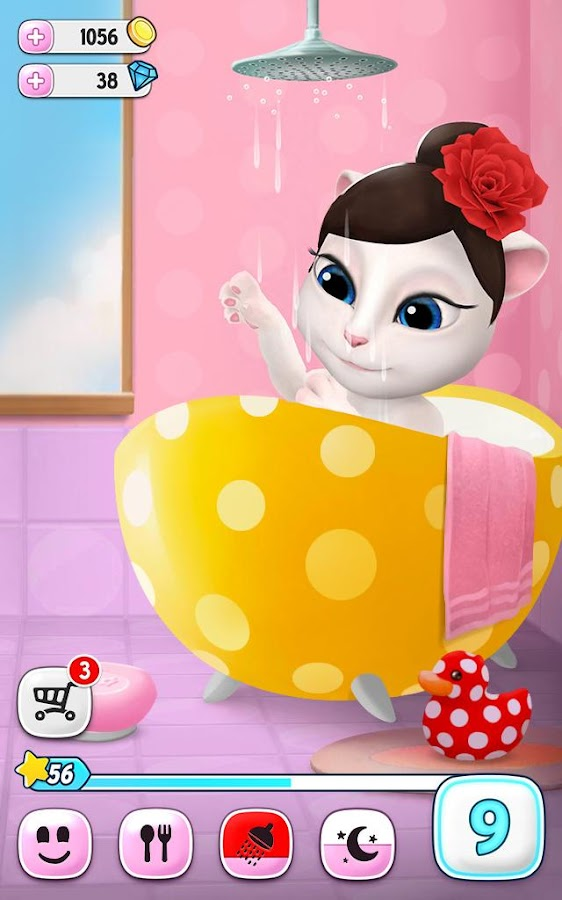 Screenshots of My Talking Angela for Android