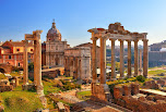 #40207802 - Roman ruins in Rome, Forum