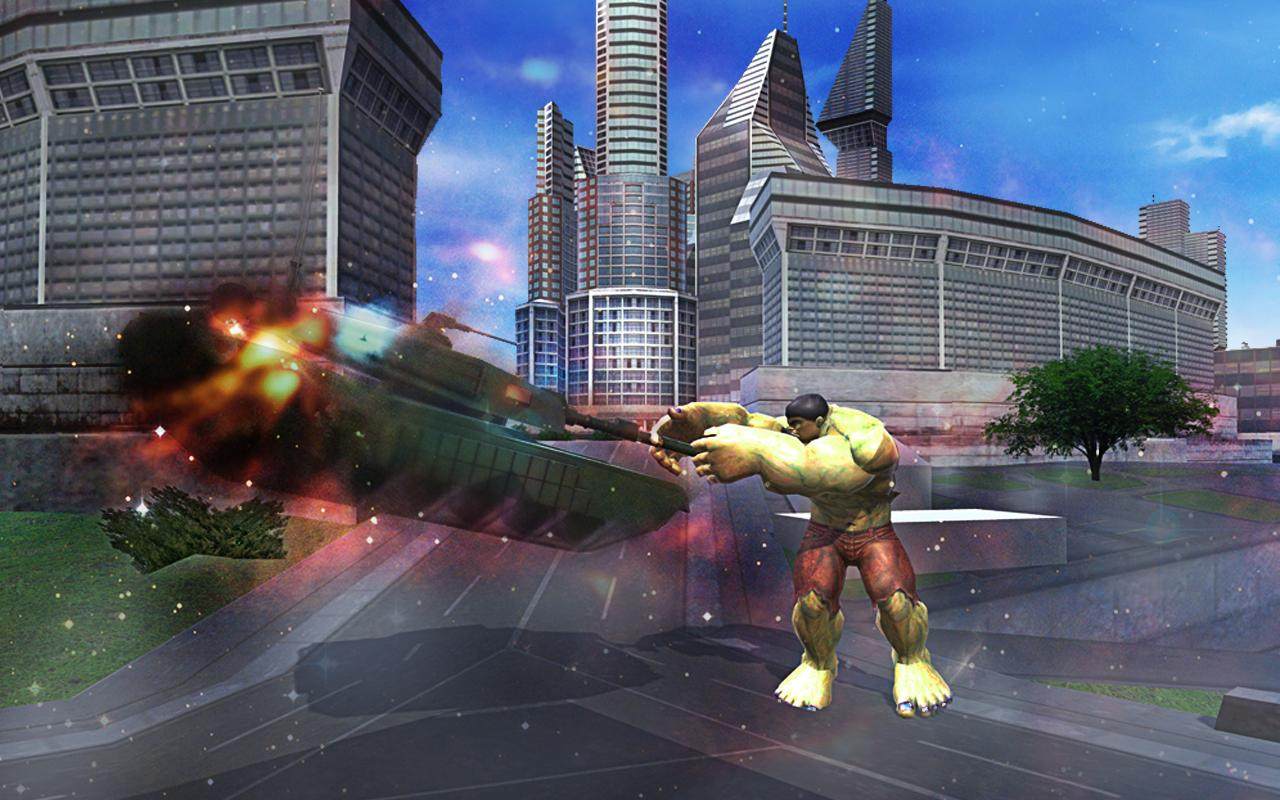 Angry Monster Hero vs Army Helicopter Tanks Battle- screenshot