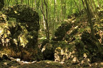 Photo: Az Ördög-gát: vizes időben a Telekes-patak vize vízesés formájában zúdul alá a vad sziklákon