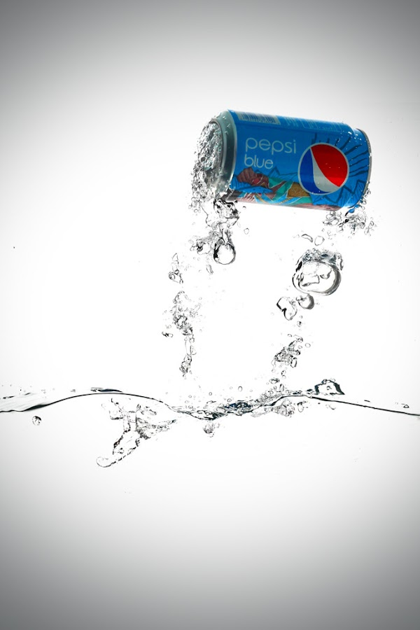 Splash Pepsi Blue by Liang Deoz - Artistic Objects Other Objects ( pwccans )