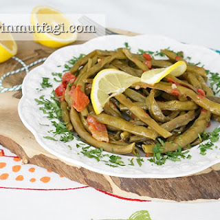 Long Beans With Olive Oil.