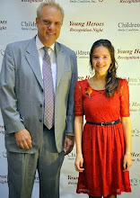 Photo: Kylee & the Mayor of Worcester at Children's Smile Coalition, Inc's Young Heroes Recognition Night October 26, 2013 in Worcester, MA.