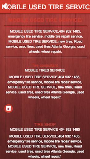 玩免費遊戲APP|下載MOBILE USED TIRE SERVICE app不用錢|硬是要APP