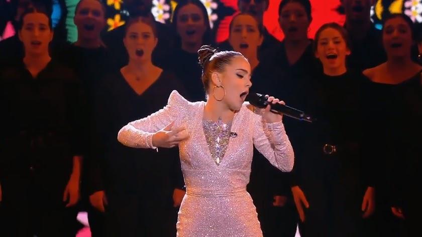 La joven pulpileña durante su actuación en la final.
