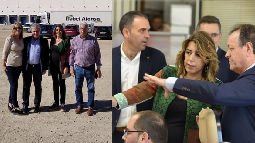 Visita de Susana Díaz a las instalaciones de las dos empresas antusas.