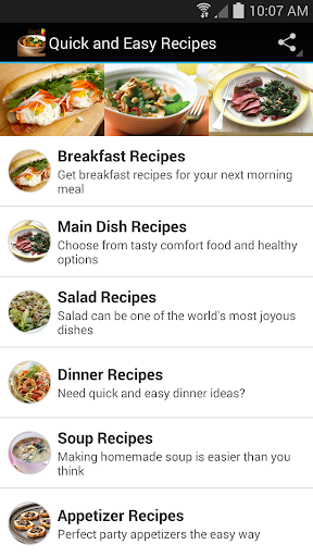 Quick and Easy Recipes Screenshot