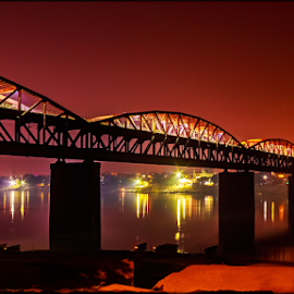 bridge over Ganga by Manish Madhavan - Buildings & Architecture Bridges & Suspended Structures ( #ganga #varanasi #bridge )