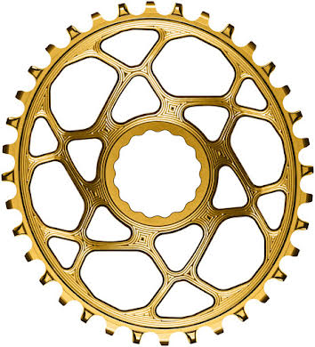 Absolute Black Oval Narrow-Wide Direct Mount Chainring - CINCH Direct Mount, 3mm Offset, Colored  alternate image 0