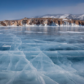 Baikal ice by Danil Korzhonov - Landscapes Mountains & Hills ( baikal )
