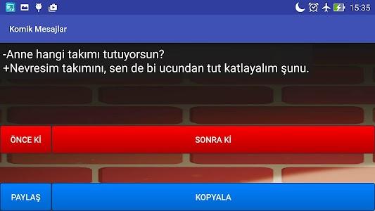 Komik Mesajlar screenshot 8