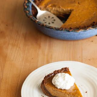 Pumpkin Pie with Gingersnap Crust Recipe
