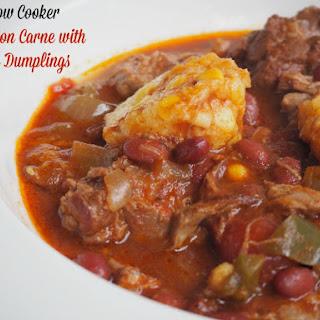 Slow Cooker Chilli Con Carne with Corn Dumplings Recipe
