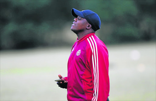 WORRIED MAN: EC Bees coach Chippa Njedu is concerned their last game against Lion City in PE could be a tough encounter Picture: MICHAEL PINYANA