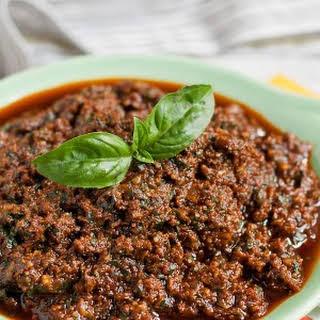 Sundried Tomato Basil Pesto.