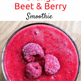 Orange Beet and Berry Refresher Smoothie.