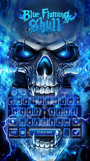 Blue Fire Skull Keyboard 10001015 screenshots 2