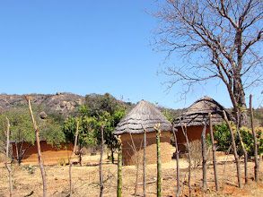 Photo: Round huts with thatched roofs
