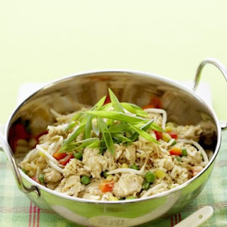Thai Fried Rice with Chicken.