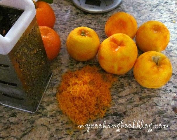 остъргване на оранжевият слой на кората