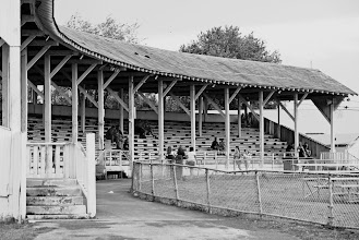 Photo: A old grandstand