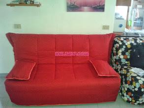 Photo: divano letto matrimoniale sfoderabile rosso