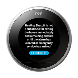 Nest Thermostat CO Warning
