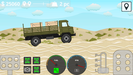 Mini Trucker – 2D offroad truck simulator Mod Apk Download For Android and Iphone 6