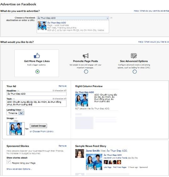 quang cao facebook Hướng dẫn tạo quảng cáo trên facebook