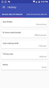 Malay English Translator - náhled