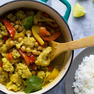 Weeknight Chickpea & Cauliflower Coconut Curry