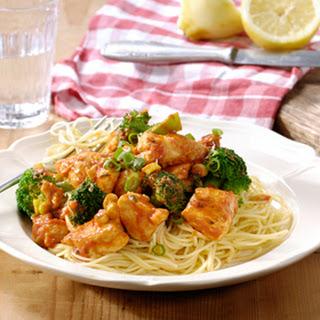 Spaghetti Calabrese met citroenkip en broccoli