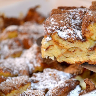 French Toast Casserole in Lodge Bakeware from Market Street