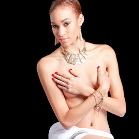 Honey by Marie-Jose Hains - Nudes & Boudoir Boudoir ( nude, boudoir, woman, hiding breast )