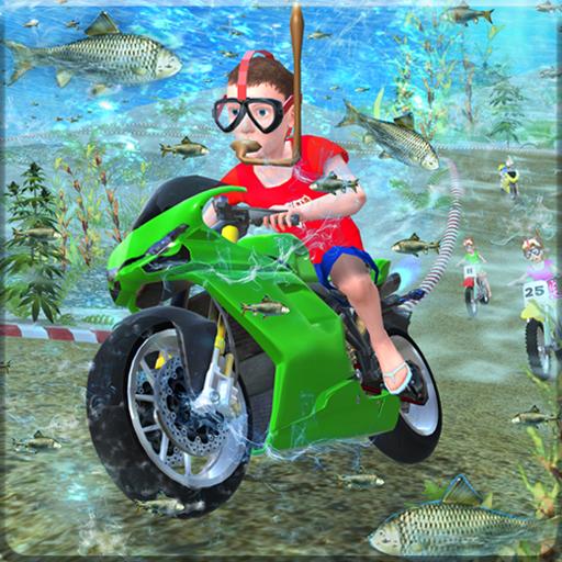 Kids Underwater MotorBike Race Adventure