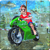 Kids Underwater MotorBike Race Adventure
