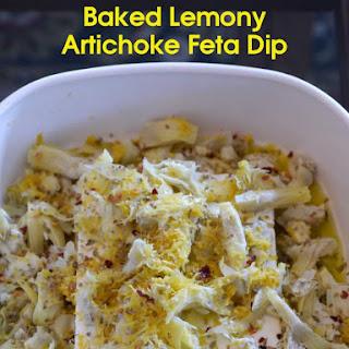 Easy Baked Artichoke Feta Dip