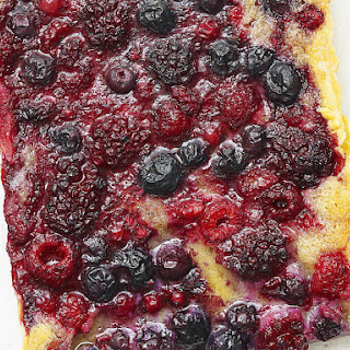Summer Berry and Almond Tart.