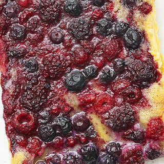 Summer Berry and Almond Tart.