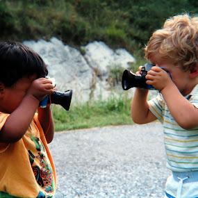 Cheese! by Riccardo Schiavo - Babies & Children Children Candids ( photographers, taking a photo, photographing, photographers taking a photo, snapping a shot, KidsOfSummer,  )