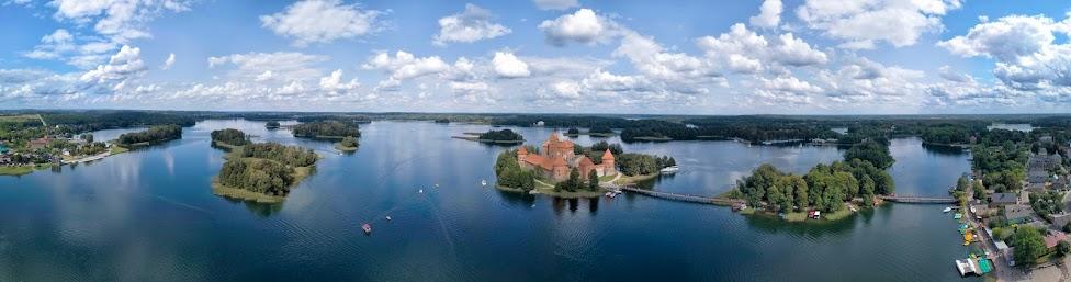 Troki, Trakai, Zamek na wyspie, panorama