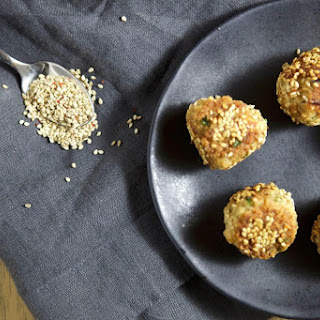 Sesame Salmon Balls with Ginger Tahini Dipping Sauce + Paleo Home Cooking GIVEAWAY