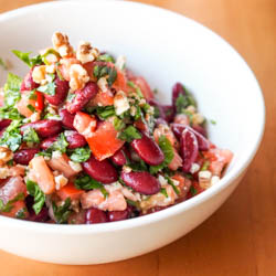 Kidney Bean Salad with Walnuts