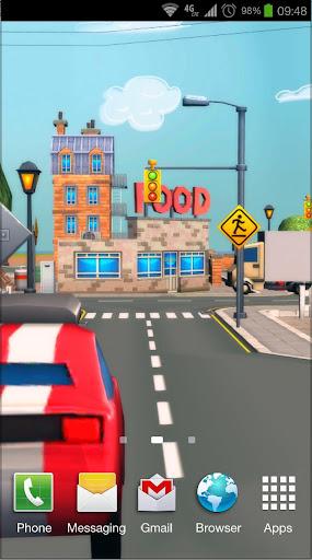 Cartoon City 3D Live Wallpaper Screenshot 5